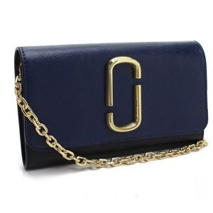 Marc Jacobs Shoulder Wallet Gold Chain